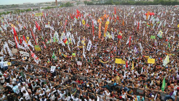 HDPs valgfest i Istanbul i 2015