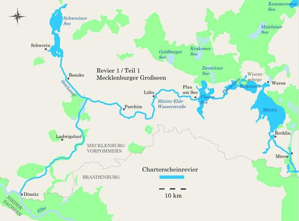 Charterscheinrevier Mecklenburger Großseen