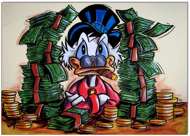 Dagobert Duck Only Cash is the real Thing