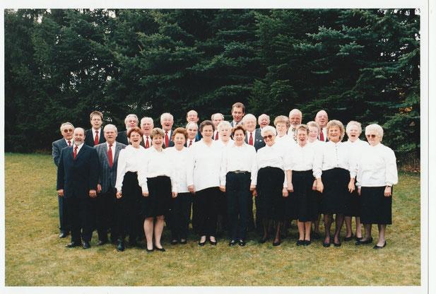 Der gemischte Chor des Gesangvereins Wernborn  1998