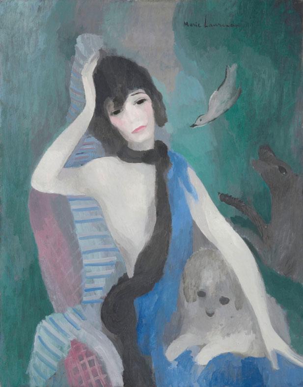 マリー・ローランサン「マドモアゼルシャネルの肖像」(1923年)