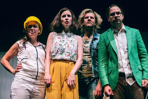 Szenenfoto Schauspielhaus Graz 2016, Susanne Konstanze Weber, Evamaria Salcher, Nico Link, Florian Köhler (c) Lupi Spuma