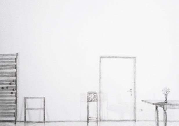 Nina Gross Zeichnung Wohnräume
