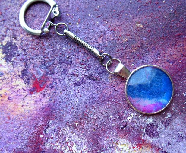 porte-clefs-original-bleu-violet-nacre-irise-porte-clefs-anneau-perdre-ses-clefs-royan-art-collection-deco