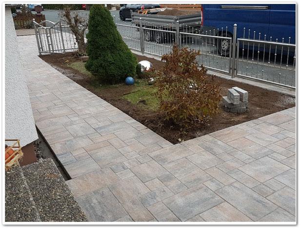 Pflasterarbeiten für den Gartenbereich & Hauseingangsbereich