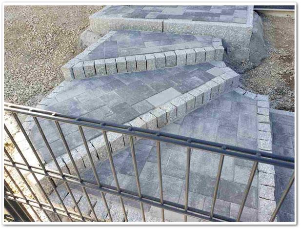 Treppenbau im Außenbereich für Terrassen & Eingangsbereiche