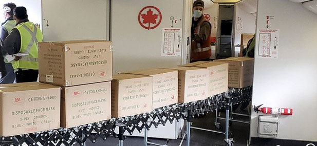Air Canada has reconfigured passenger aircraft to carry cargo  -  photos: Air Canada
