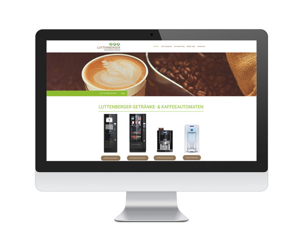 Luttenberger Kaffeeautomaten Website, SEO Optimierung & Google AdWords Kampagne