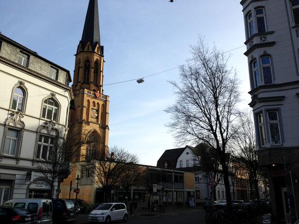 Standort BonnBox Altstadt, Standort givebox Bonn, St. Marien Bonn, St. Petrus Gemeinde Bonn, Frankenbad Bonn Altstadt