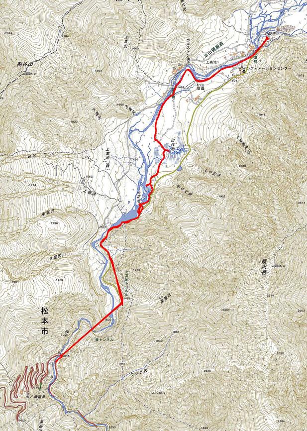 上高地ルート図