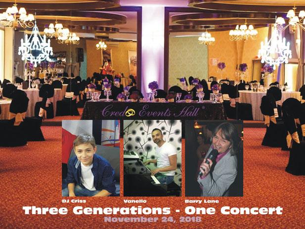 Credo Events Hall LIVE mit DJ Criss, Vanello und Barry Lane