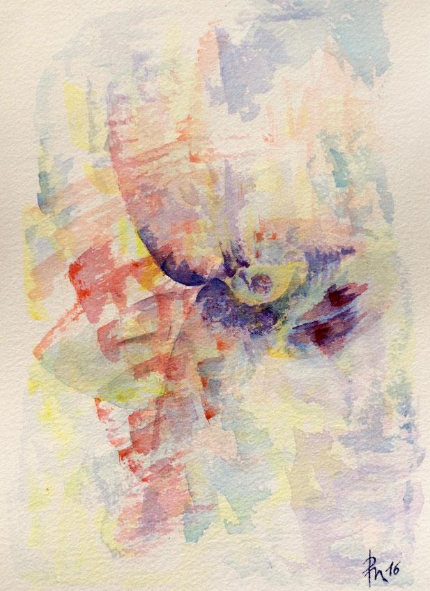 Die Flügel des Götterboten, Aquarell auf Papier, 2016