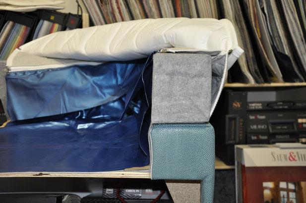 Querschnitt des Comfort de Luxe Hardside Wasserbettes