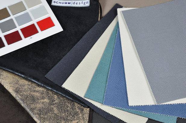 Viele verschiedene Materialien sind für Schumm Betten verfügbar.