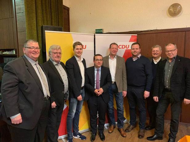 v.l Johann Peltzer, Toni Schäfer, Dennis Meisberger, Roland Theis, Dirk Schäfer, Timo Backes, Hermann Scharf, Andreas Wita