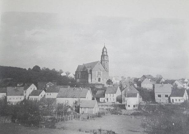 Kirche von der Bliesener Straße aus gesehen