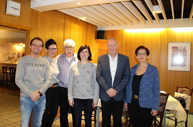 Der Vorstand v.l: Patrick Färber, Sylvia Hans, Rudolf Folz, Anne Nilles, Dieter Dewes, Melitta Melchior