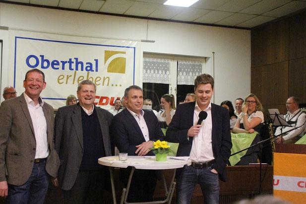 v.l: Dirk Schäfer, Hermann Scharf, Stephan Rausch, Dennis Meisberger