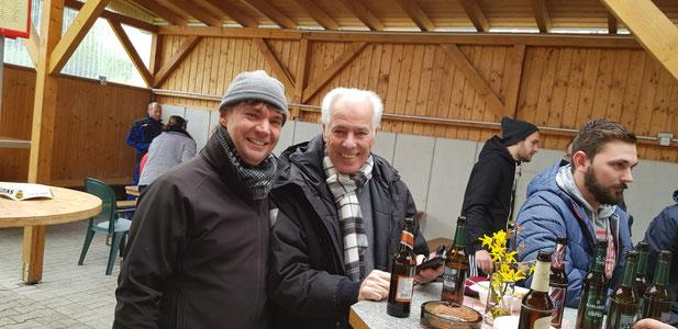 Zwei Altligisten bzw. alde Hase aus dem letzten Jahrhundert: Alex Scheid und Kurt Nofts