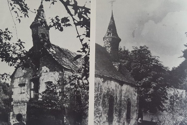 Die Kapelle kurz vor dem Verfall
