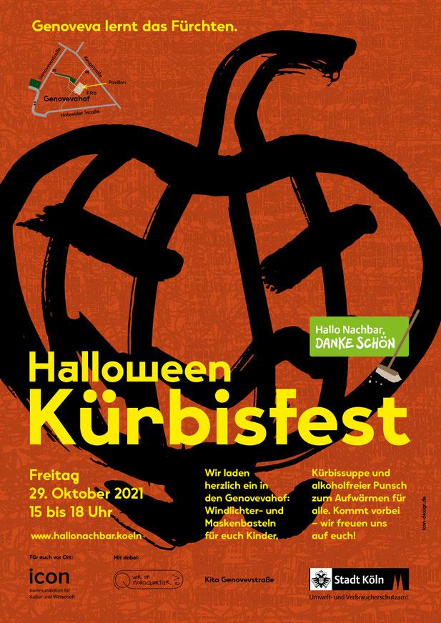Plakat »Halloween Kürbisfest«