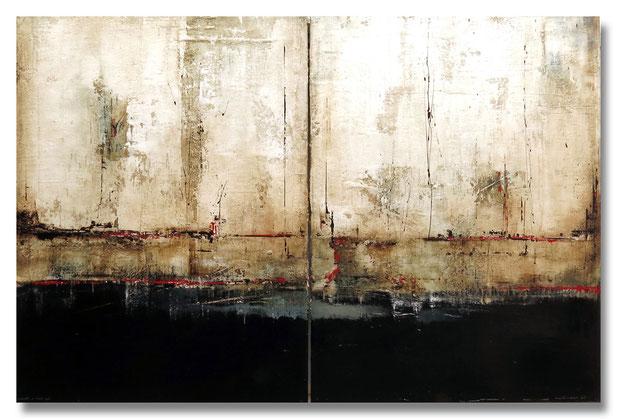 """""""Der Stumme Dialog"""" - Mischtechnik auf Leinwand - 2x60x80"""