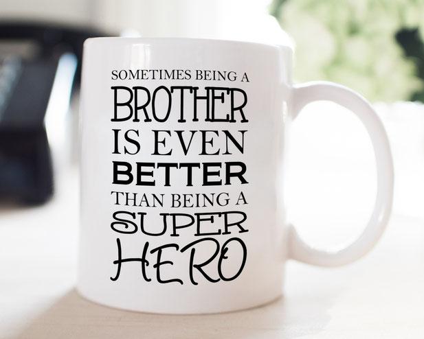Tasse mit Spruch Bruder Superhero