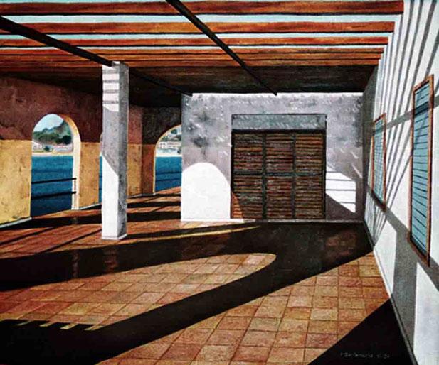 Mazarrón 1995, óleo sobre lienzo 60X73 cm