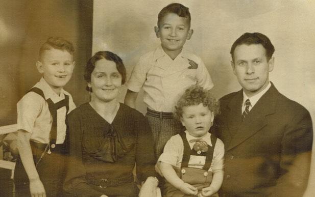 Heinrich Meier mit Familie 1928