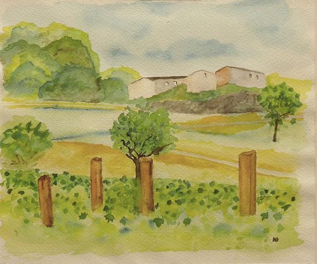 Ardèche, Aquarell