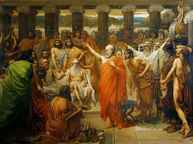 """L. J. Lebrun, """"Discorso di Socrate"""""""
