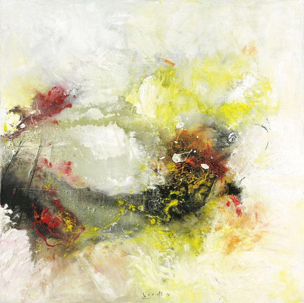 "Sinasi Bozatli, ""Waterfall"", 2016, Acryl auf Leinwand, 120 x 120 cm"