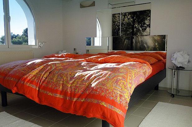 Schlafzimmer der Ferienwohnung Valencia im Dezember 2011