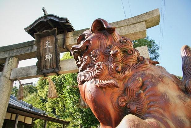 備前市伊部の観光地。天津神社