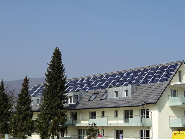 Soltermann Solar GmbH - Foto Anlagebeispiel Mehrfamilienhaus