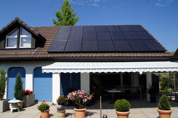 Soltermann Solar GmbH Fraubrunnen - Foto Anlagebeispiel Einfamilienhaus