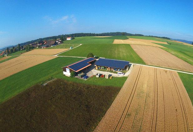 Soltermann Solar GmbH Fraubrunnen - Foto Anlagebeispiel Landwirtschaft