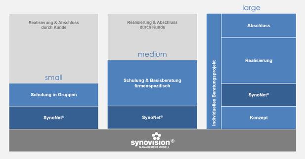 Unsere Produkte & Dienstleistungen basierend auf dem Synovision Management Modell