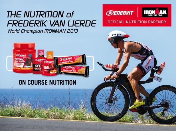 Ironman Weltmeister Frederik van Lierde mit Enervit