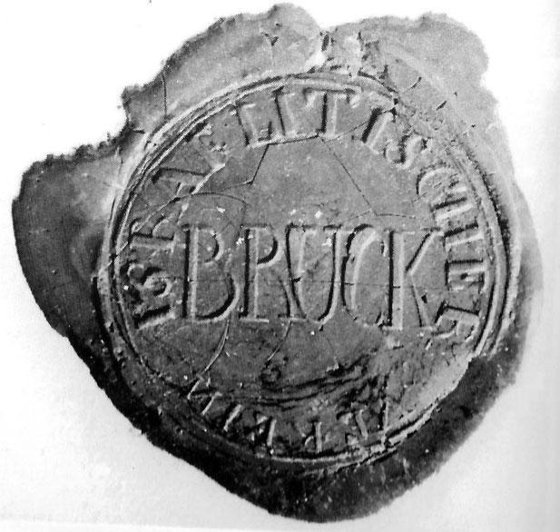 """Siegel des """"Israelitischen Verein Bruck"""" (Stadtarchiv Erlangen)"""