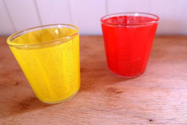Verres limonades vintage
