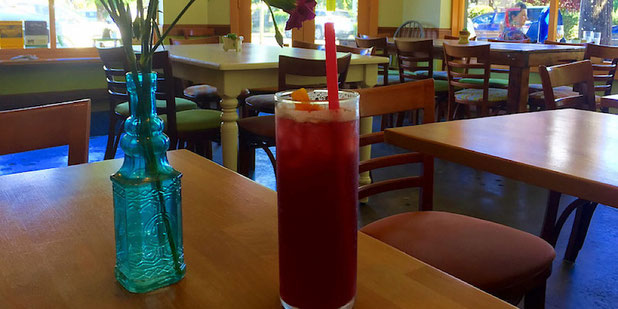 marionberry soda at Thrive sauce and bowls