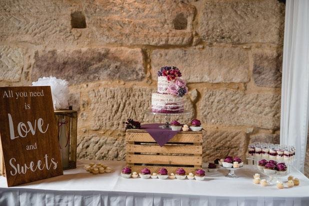 Scheunen  Hochzeit Rustikale Hochzeit Sweet Table