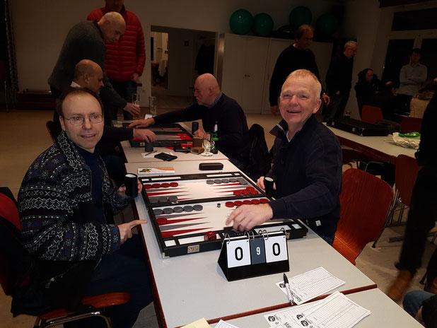 Heribert Lindner und Volker Sonnabend vor dem Finale