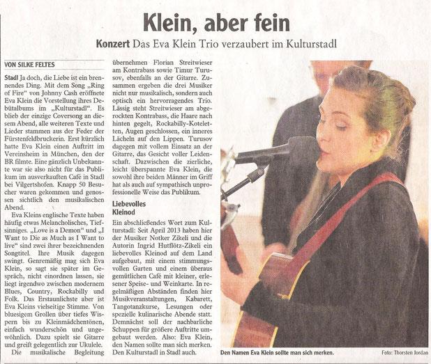 Presseartikel: Eva Klein im Landsberger Tagblatt