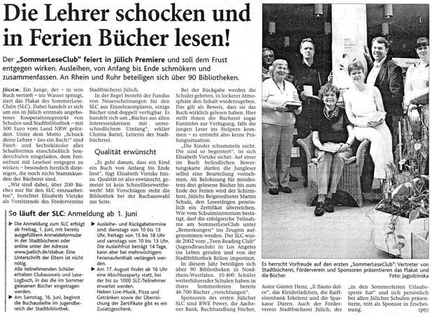 Jülicher Nachrichten vom 29.05.2007