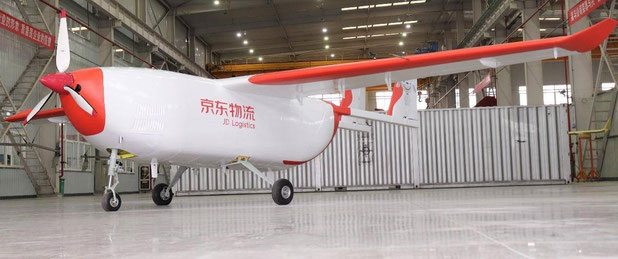 JD.com's in-house developed UAV, the JDY-800