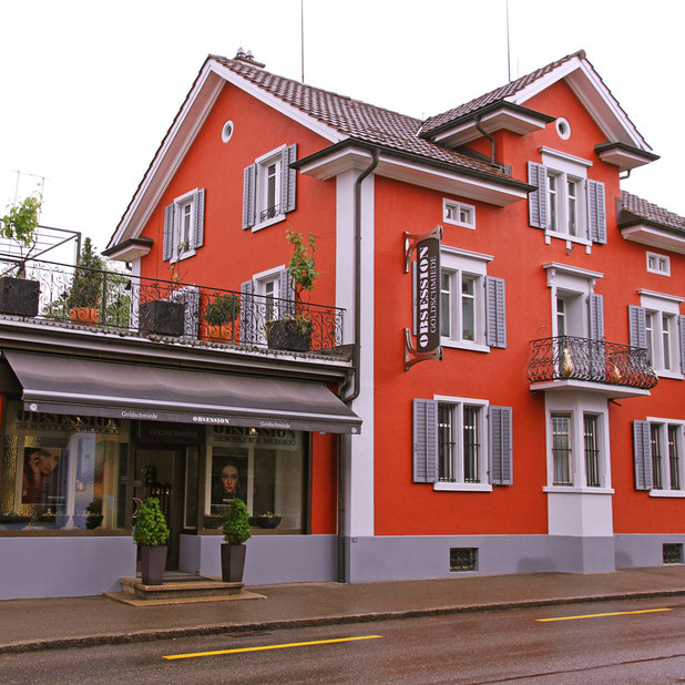 Geschäft, Laden und Atelier der Goldschmiede OBSESSION in Wetzikon
