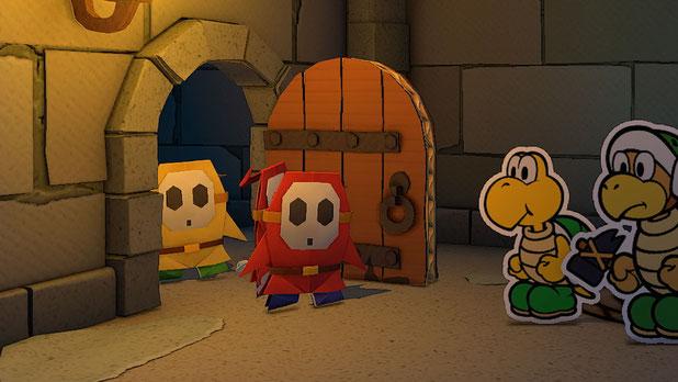 Paper Mario, Origami King, Nintendo, Switch, Intelligent Systems, Mario, Luigi, Peach, Bowser, Toad, Gumba, Koopa, Shy Guy, Olly, Olivia, Faltarme, Ringkämpfe, Ringe, Papier, Falten, Konfetti, Bowser Jr., Exklusiv