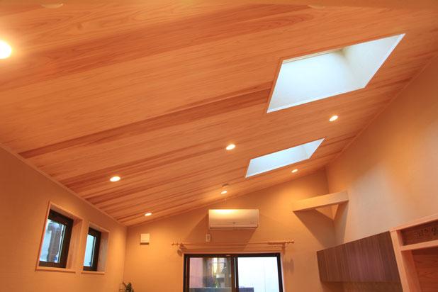 スギの天井羽目板